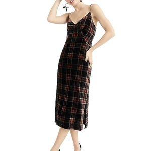 J. Crew Stewart Tartan Velvet Dress
